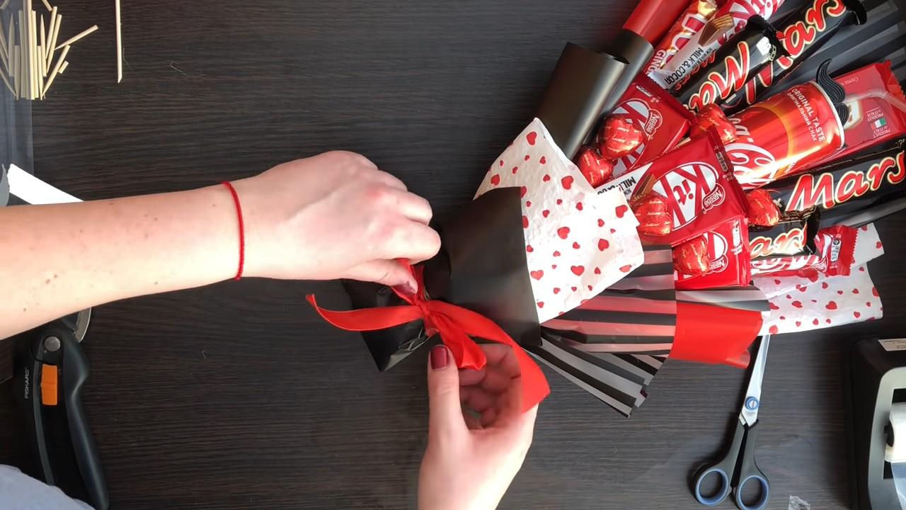 Букет из конфет для начинающих
