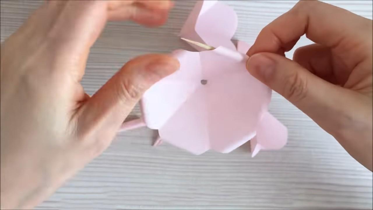 Нежные цветы из бумаги легко и быстро