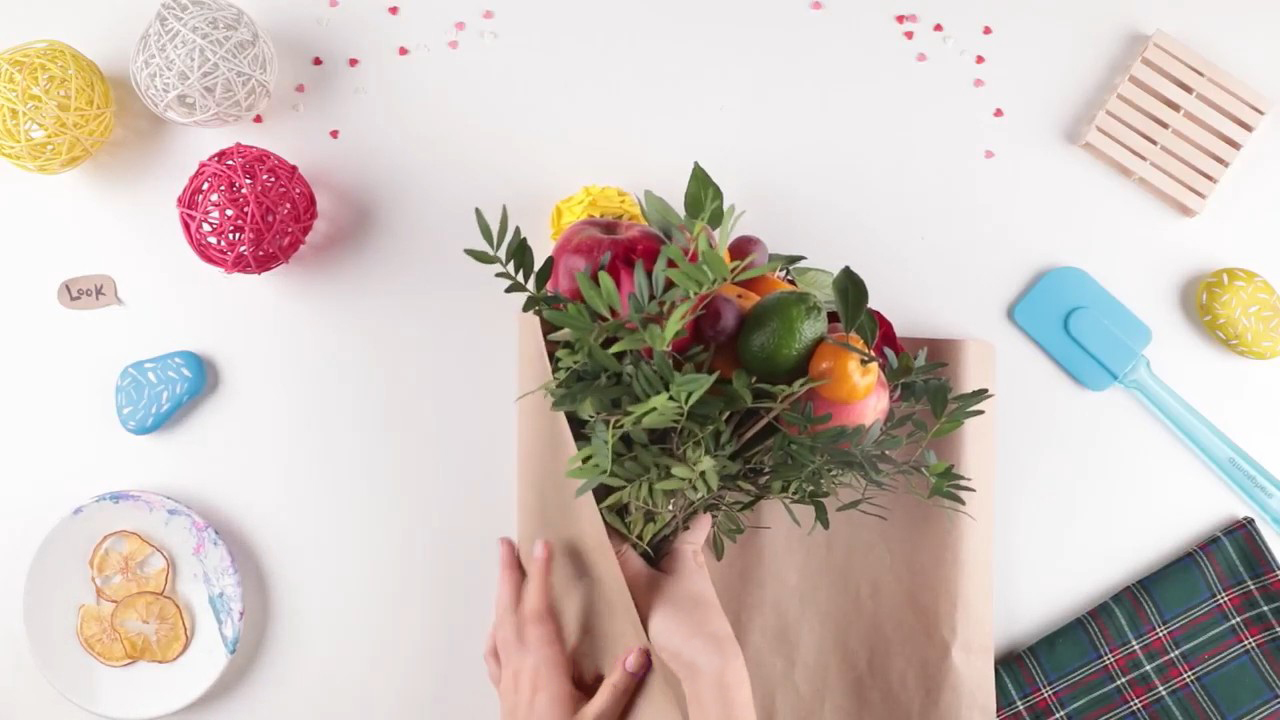 Создаем креативный букет из фруктов