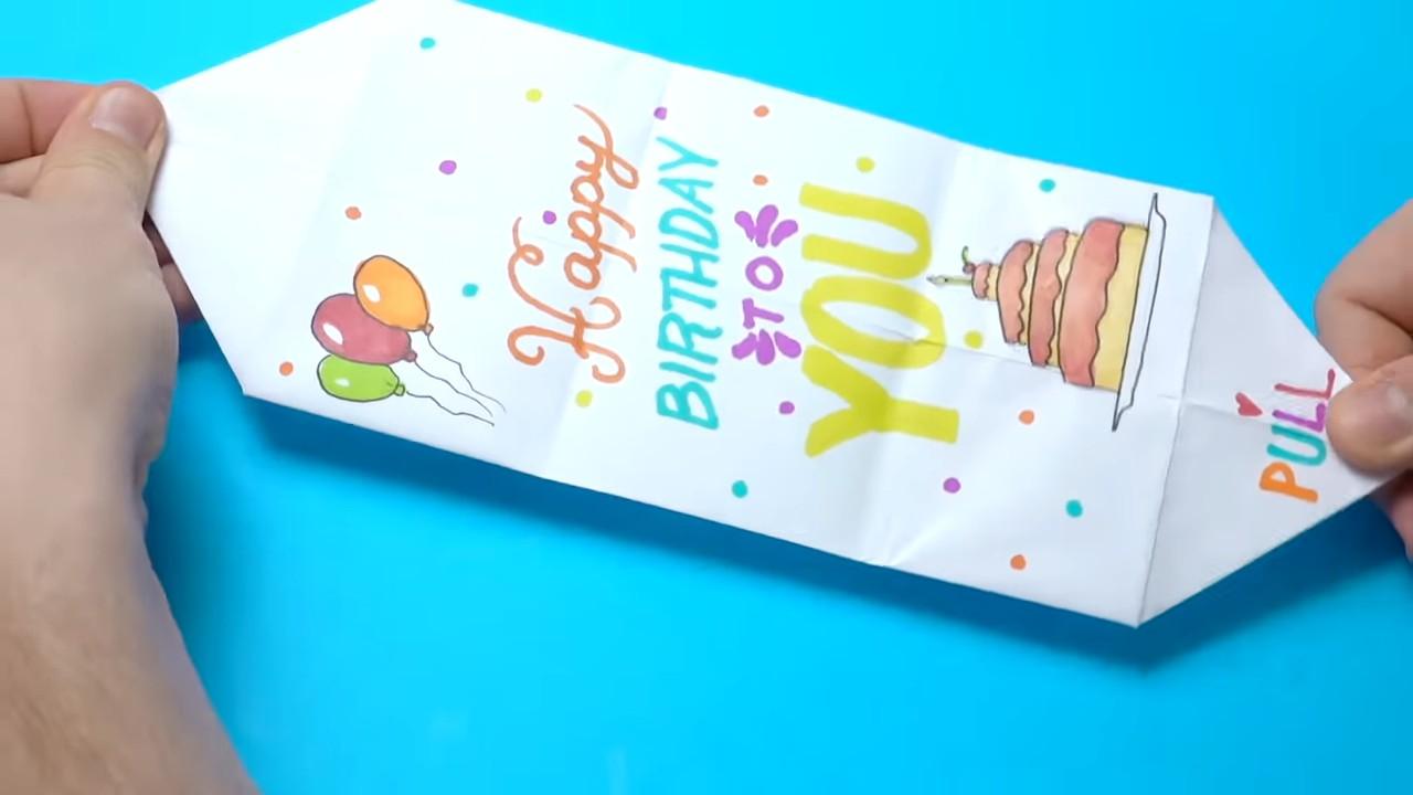 Необычная открытка на день рождения