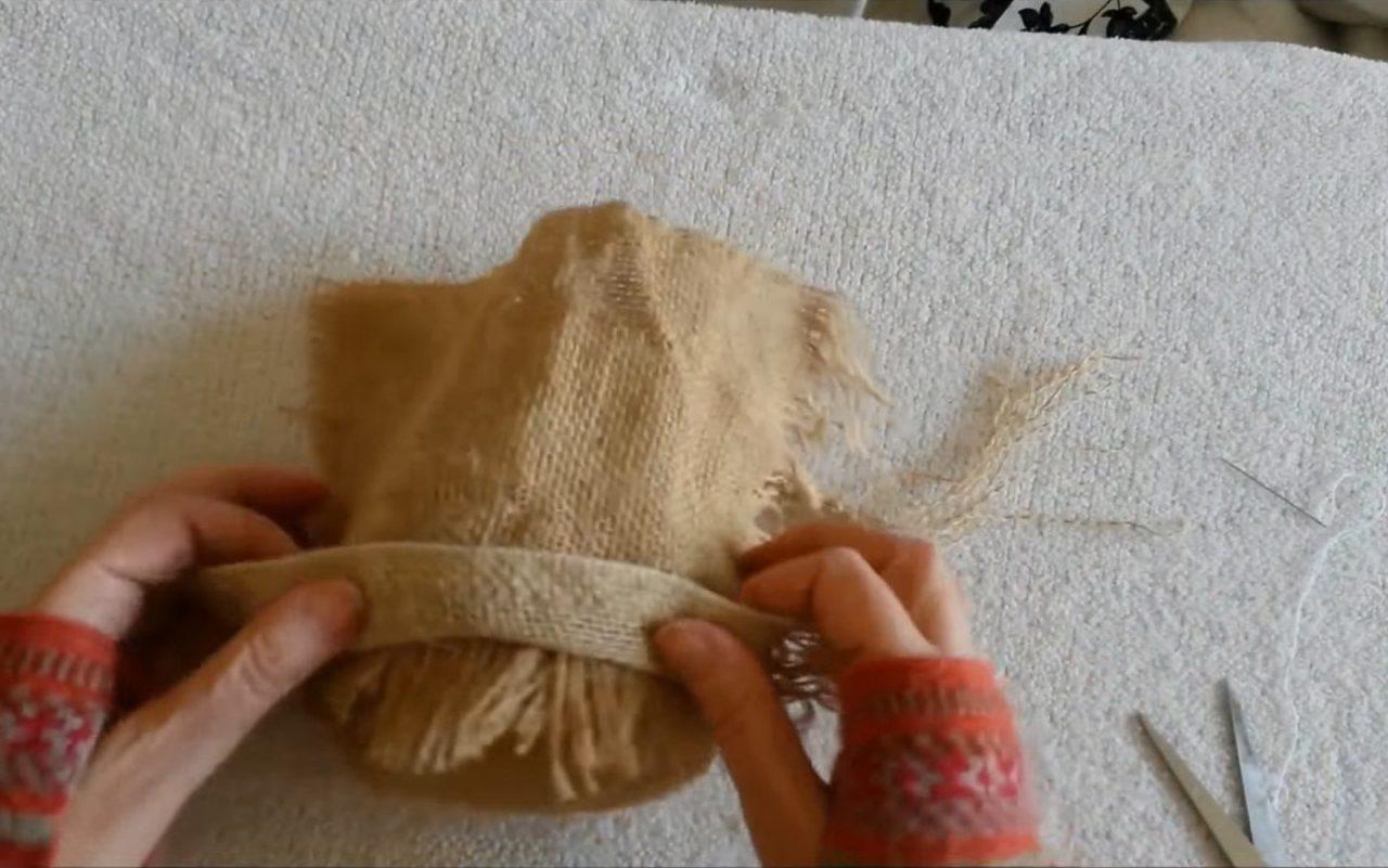 Делаем домовенка — оберег из мешковины
