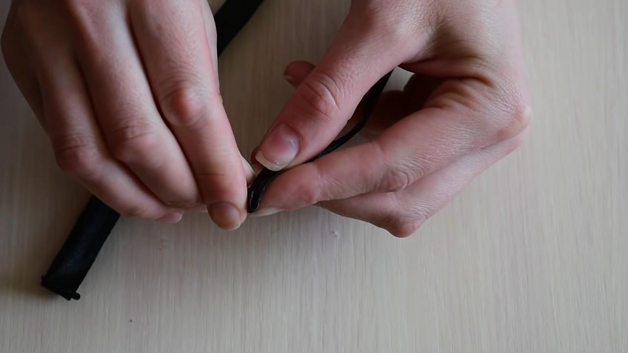 Галстук бабочка из атласной ленты своими руками