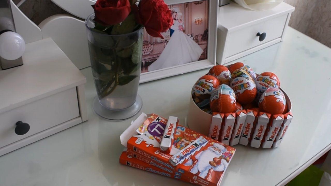 Готовим сладкий подарок из киндеров