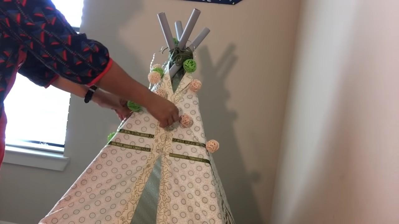 Строим простой вигвам для ребенка