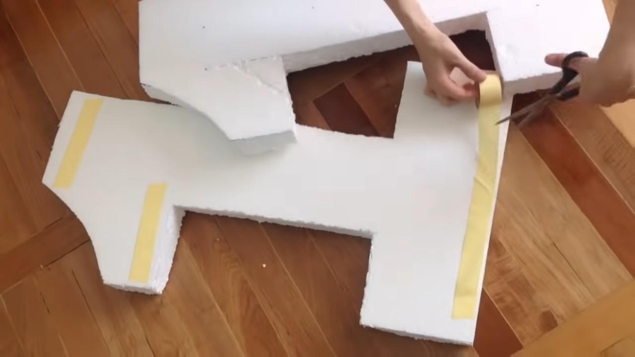 Единичка на годик из салфеток и пенопласта