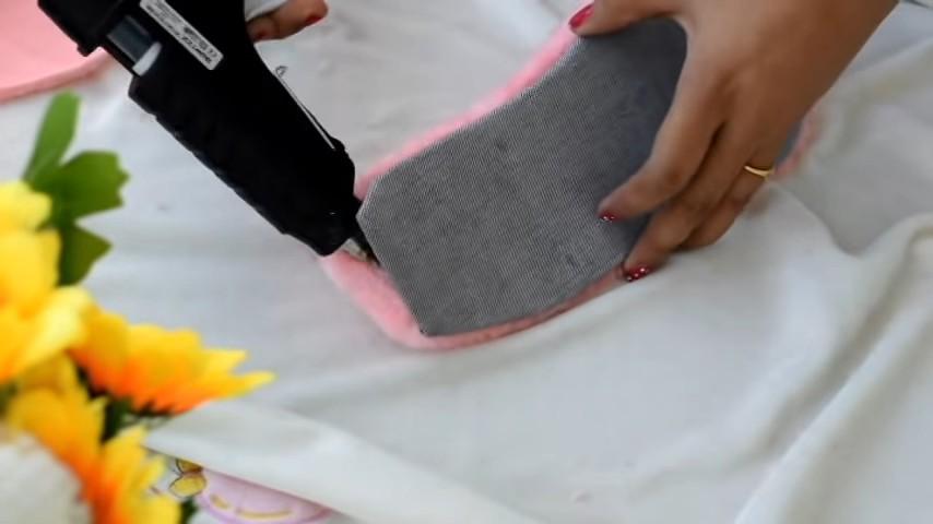 Домашние тапочки из меха своими руками