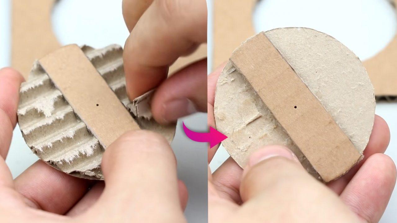 Необычная и простая копилка из картона
