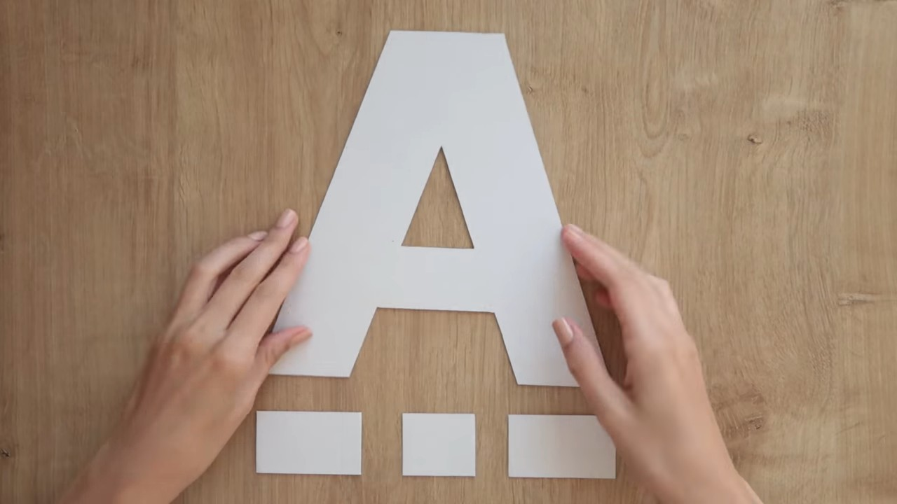 Как сделать объемные буквы из картона