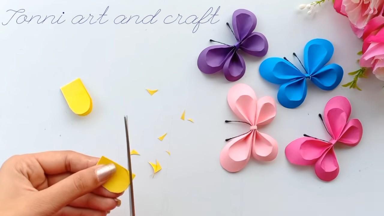 Яркие бумажные бабочки для декора