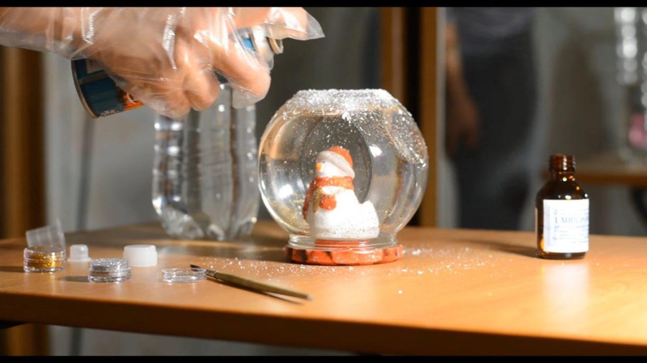 Стеклянный снежный шар своими руками