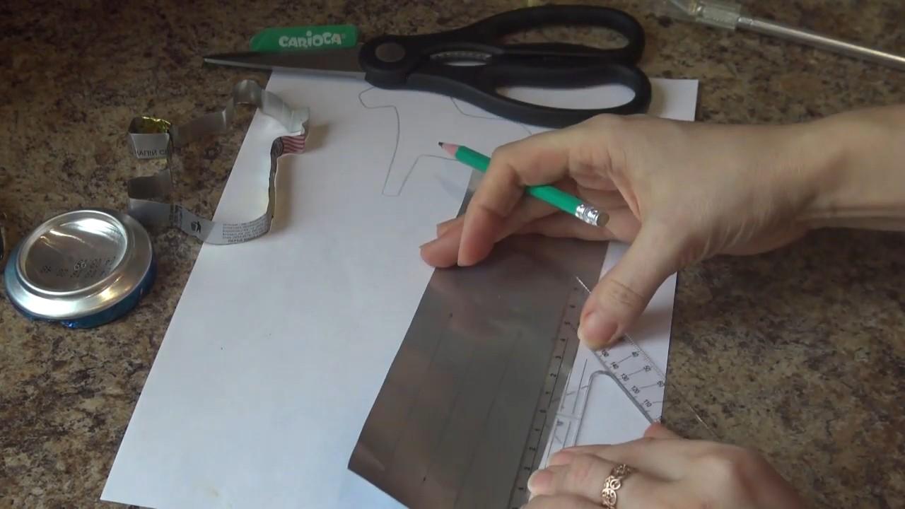 Форма для печенья из подручных материалов