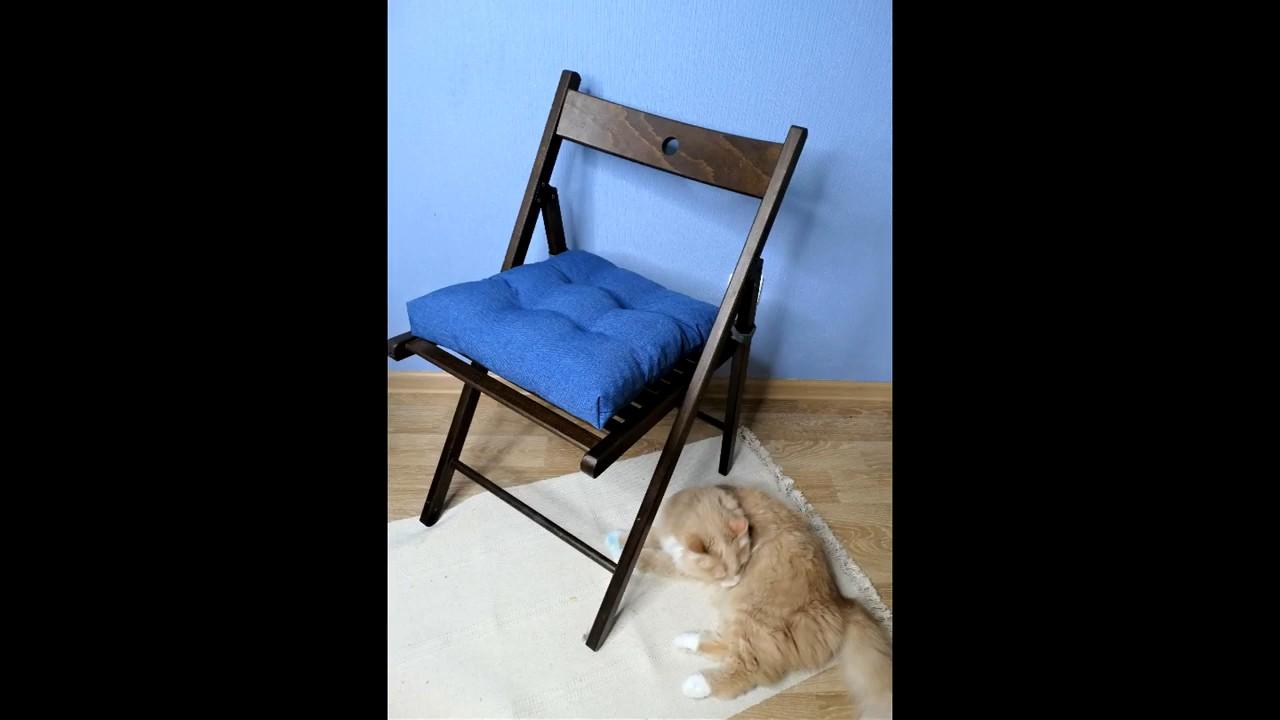 Удобная и стильная подушка на стул. Простой мастер класс