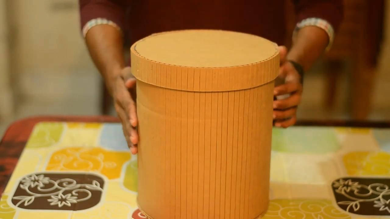 Как сделать круглую коробку с крышкой из картона