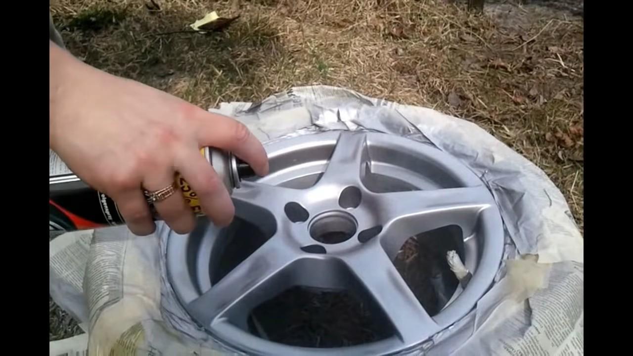 Самостоятельная покраска литых дисков