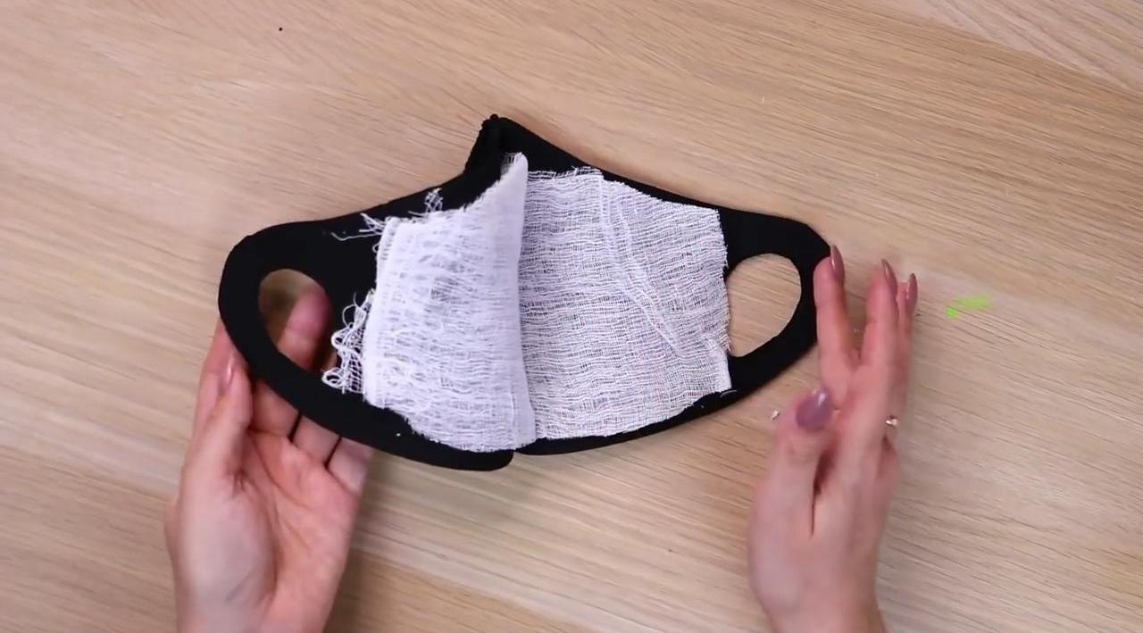 2 медицинские маски своими руками: с шитьем и без