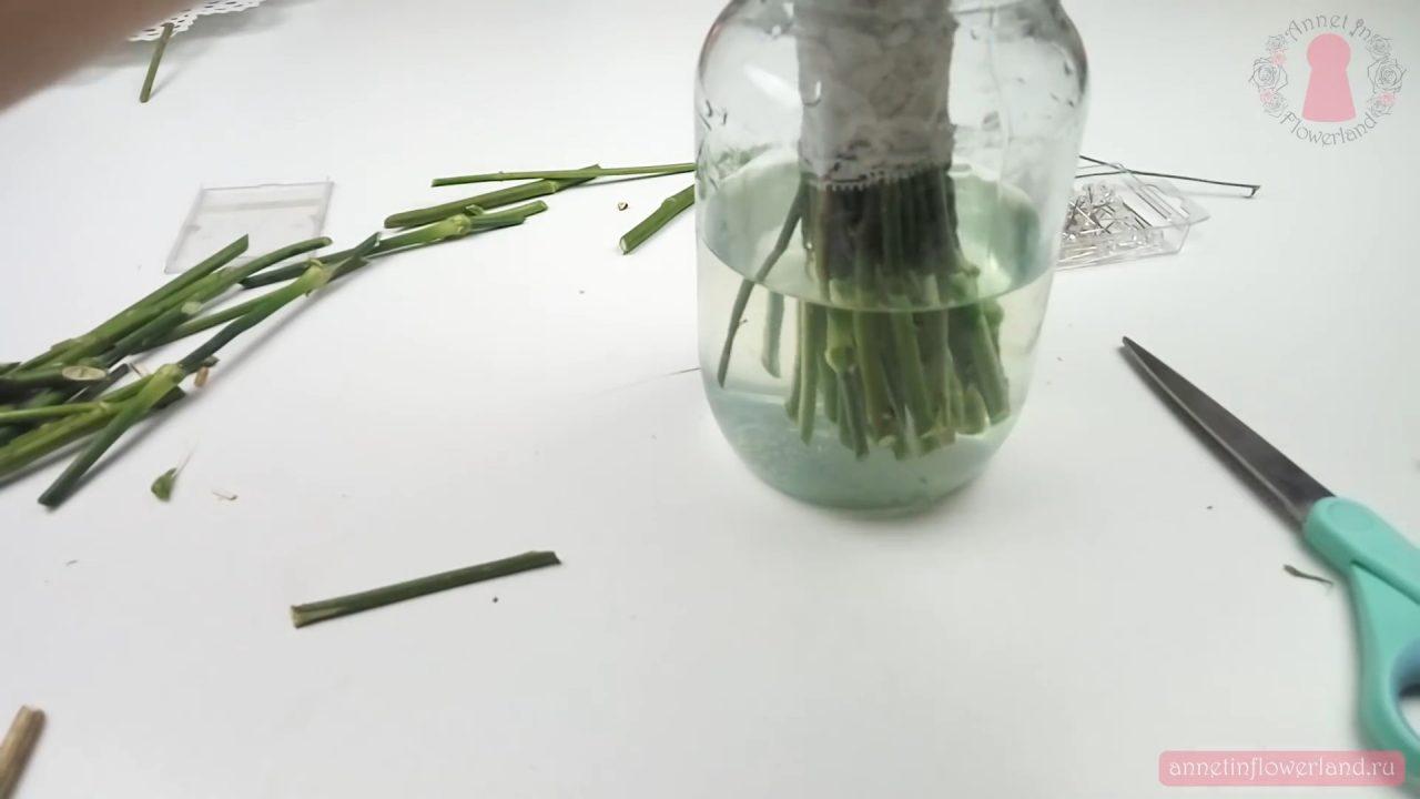 Собираем свадебный букет из живых цветов