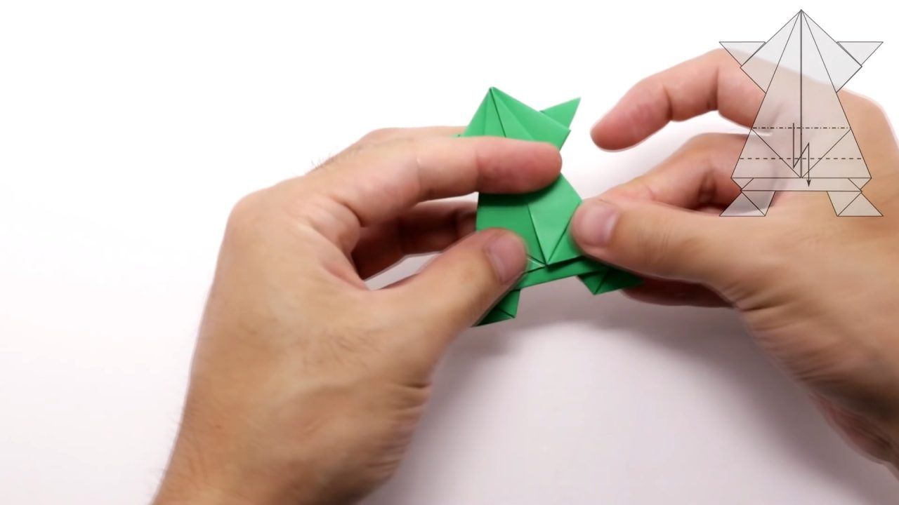 Прыгающая лягушка из бумаги