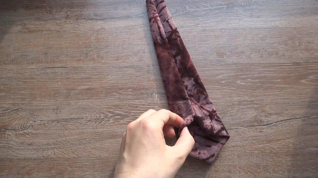 Шьем нарядный галстук на резинке