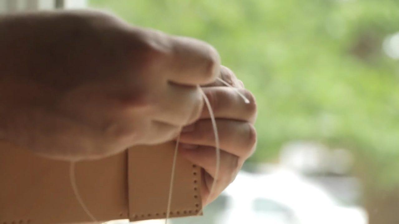 Кожаный кошелек без использования спец инструментов