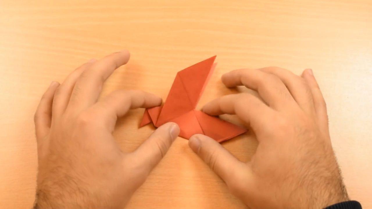 Птичка из бумаги: простая инструкция