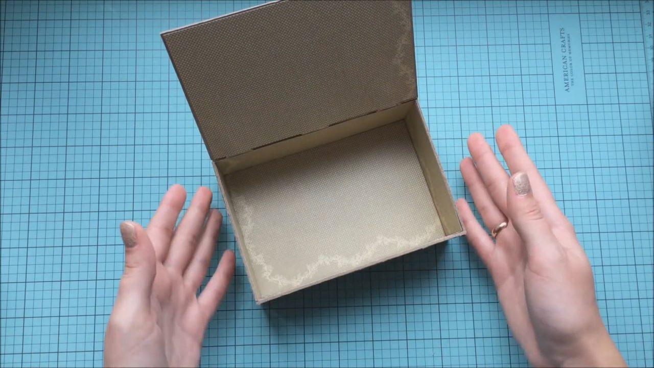 Шкатулка для украшений из картона. Простой мастер класс