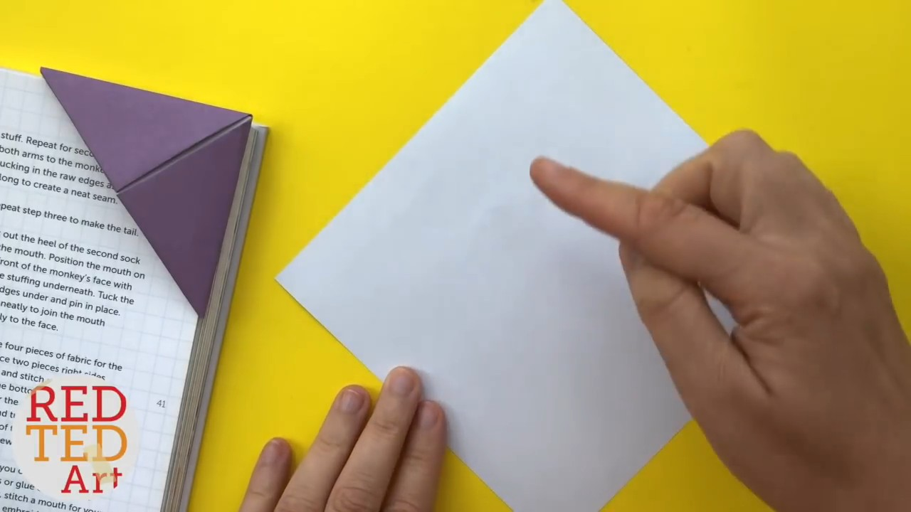 Простая и красивая закладка для книги