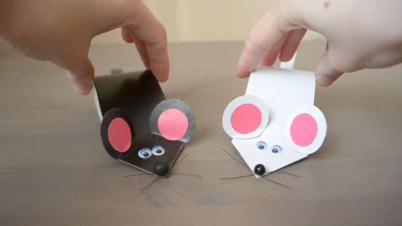 Прикольные мышки из бумаги
