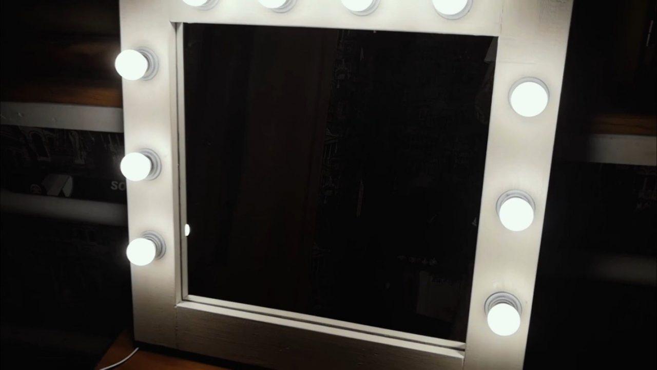 Гримерное зеркало с лампочками своими руками