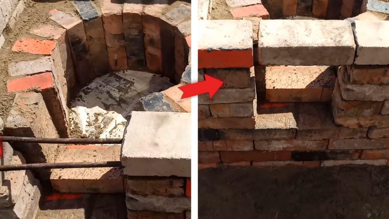 Универсальный казан-мангал из старого кирпича