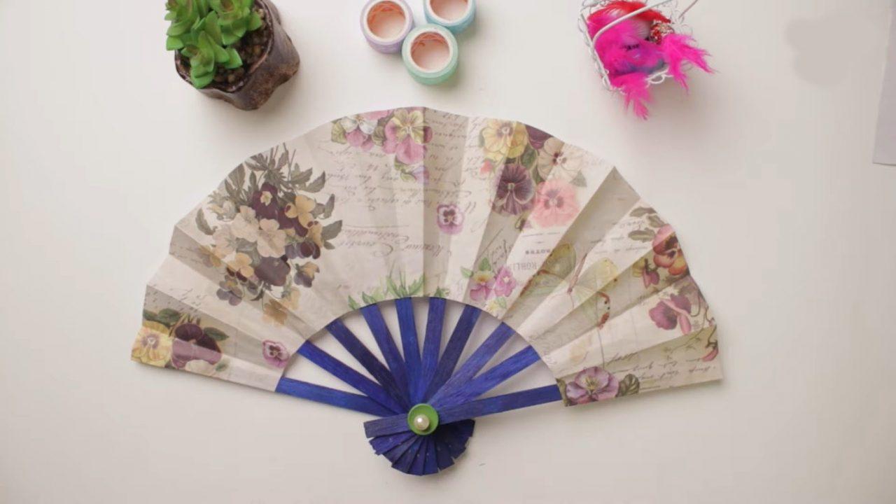 Самодельный японский веер из бумаги