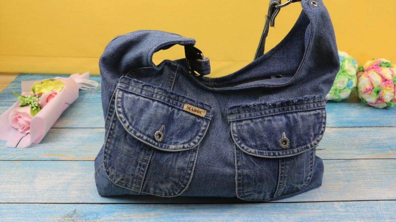 Модная сумка из старых джинсов