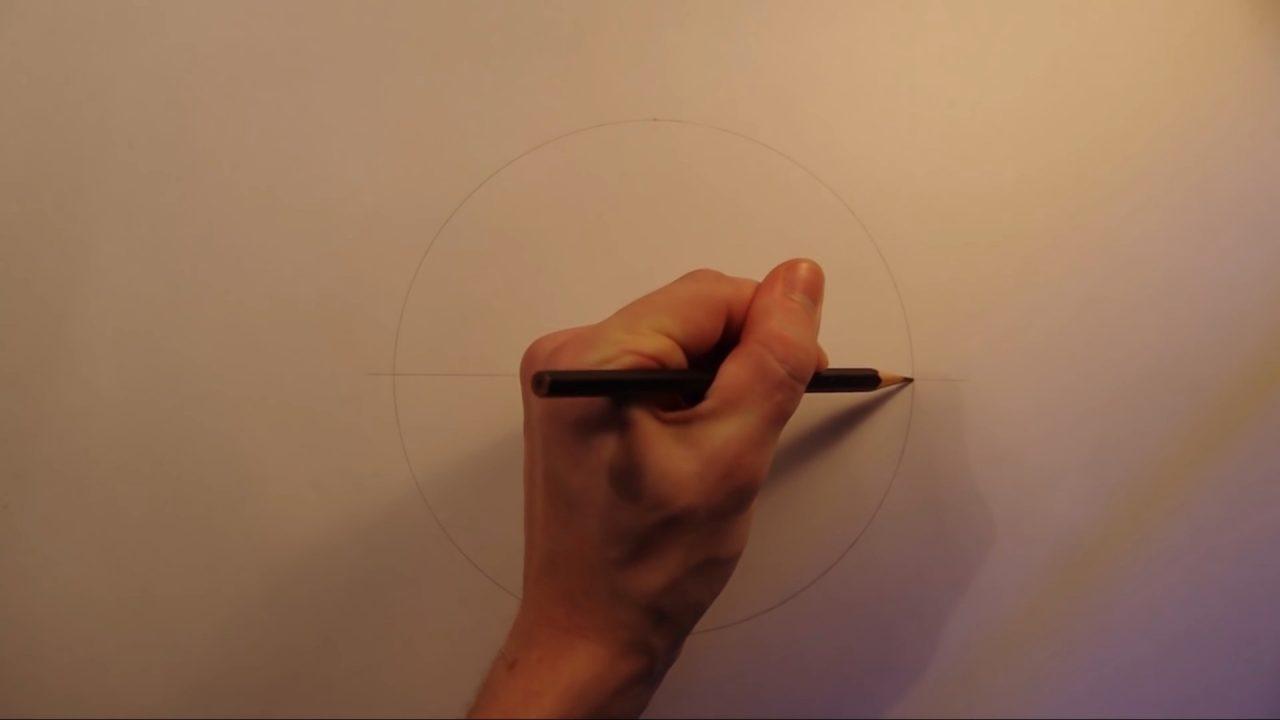 Как начертить правильный шестиугольник