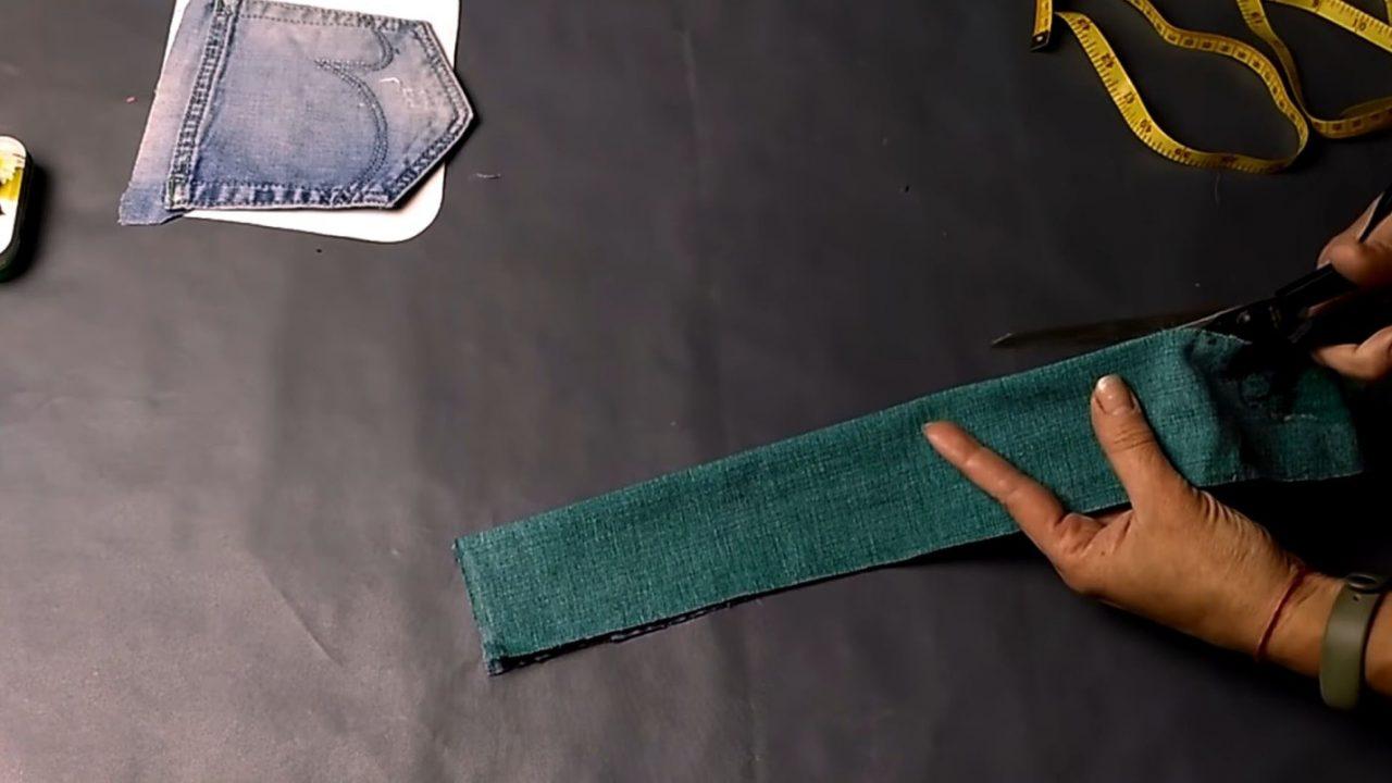 Модный рюкзак из старых джинсов