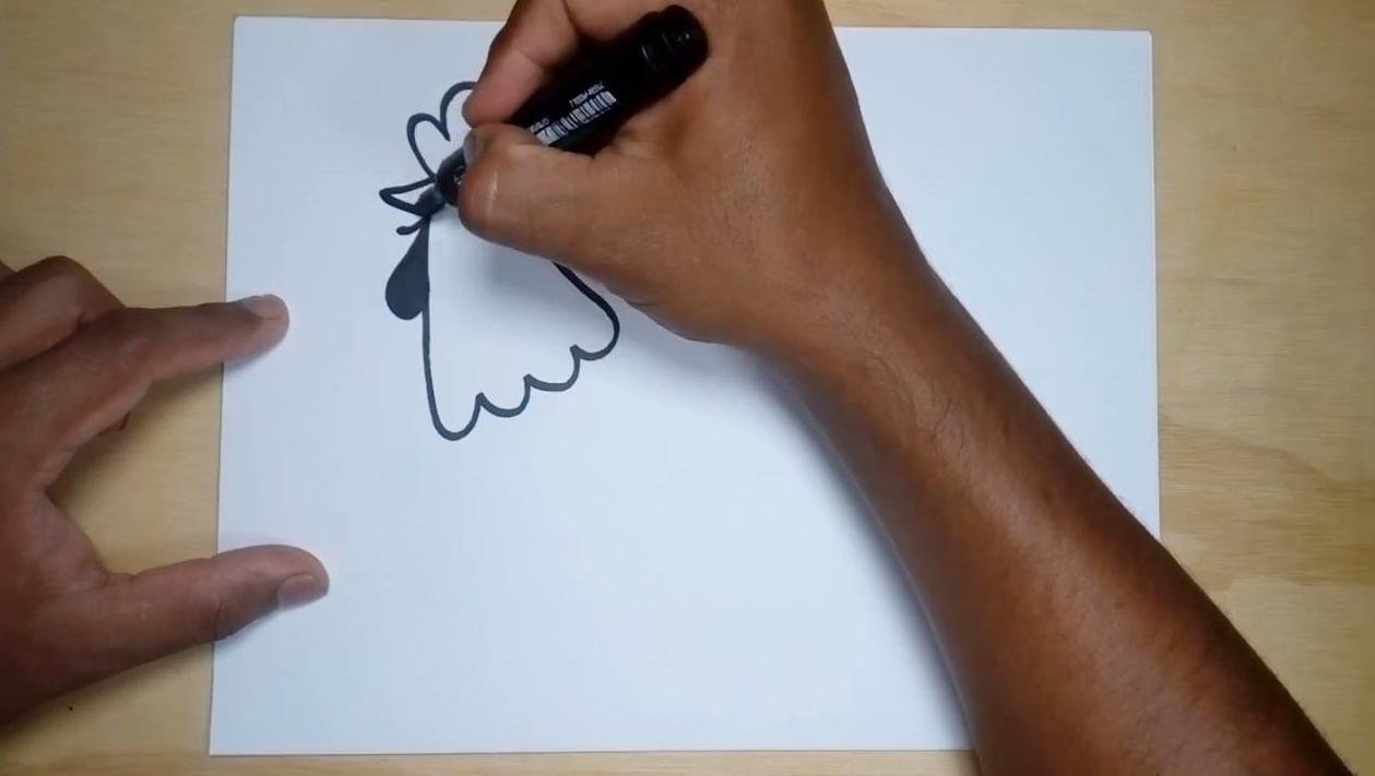 Как нарисовать петушка поэтапно