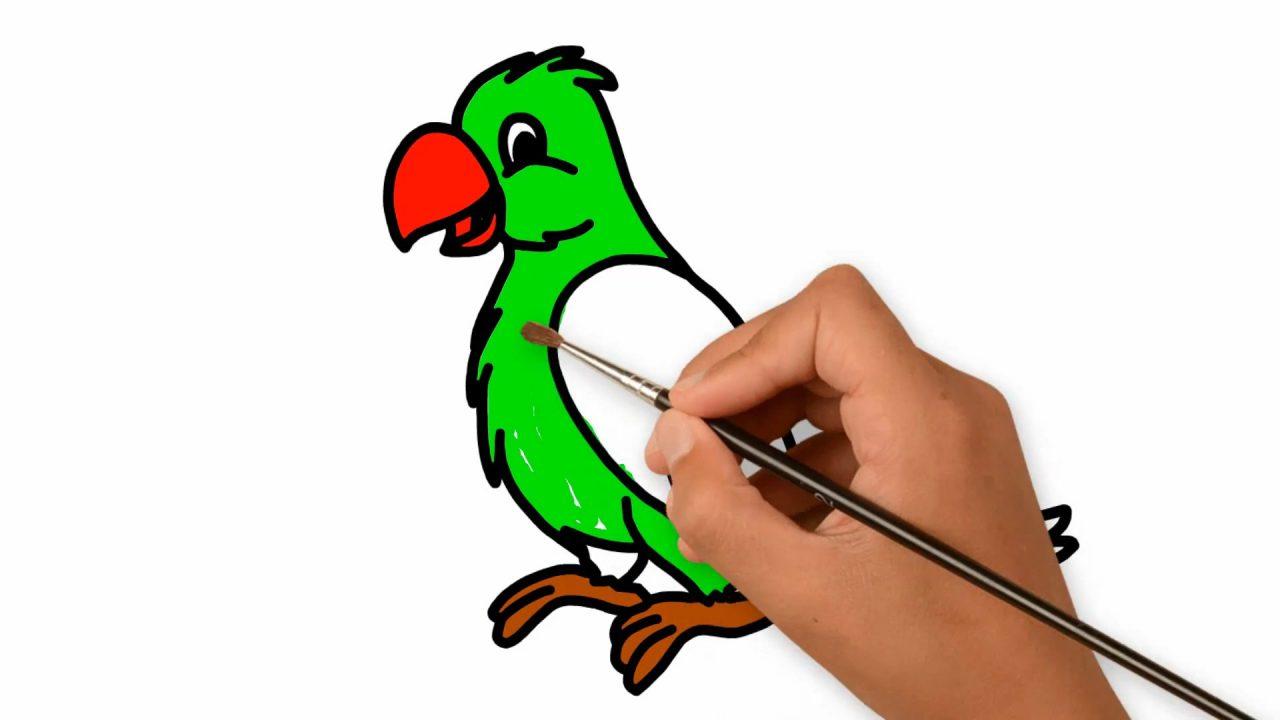 Как нарисовать попугая: поэтапный мастер-класс для детей