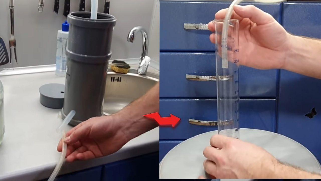 Простейший самогонный аппарат собранный из подручных материалов