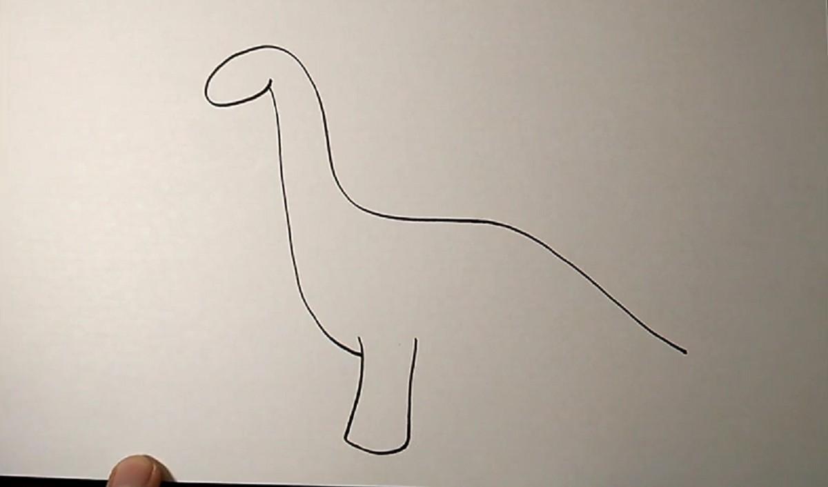 Рисуем динозавра. Пошаговый мастер-класс для детей
