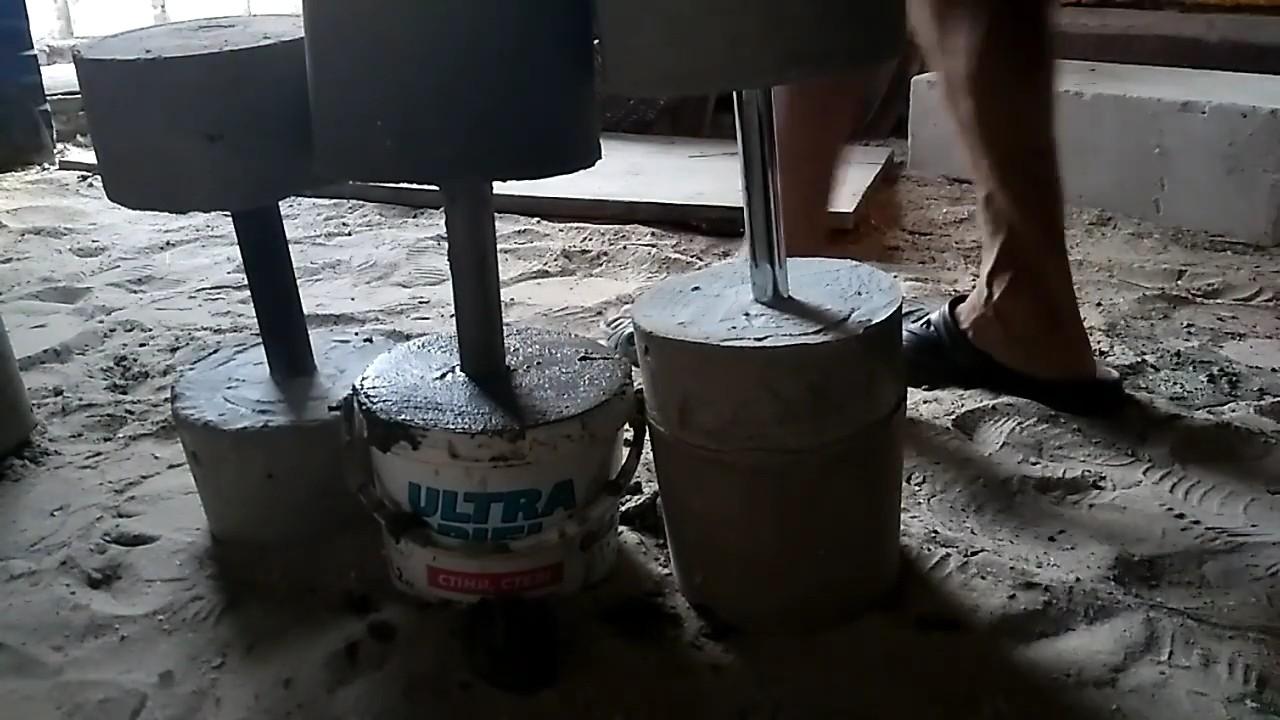 Дешевые самодельные гантели из бетона