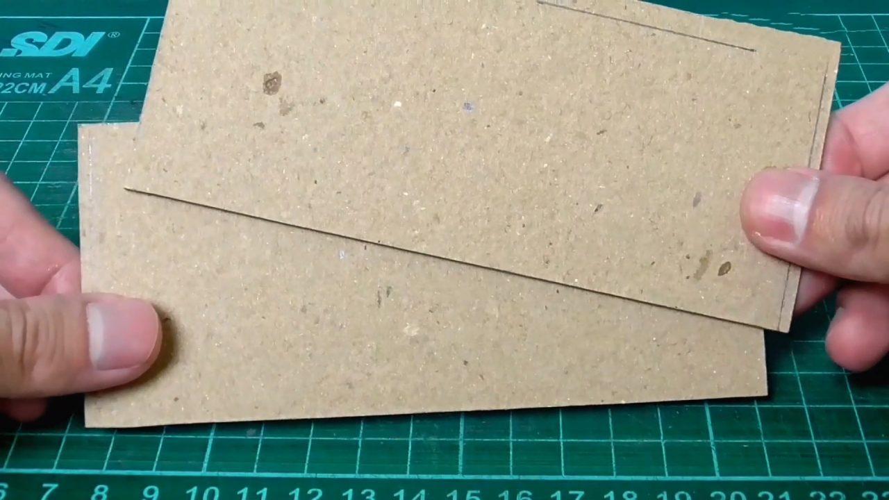 Гараж для детских машинок из картона