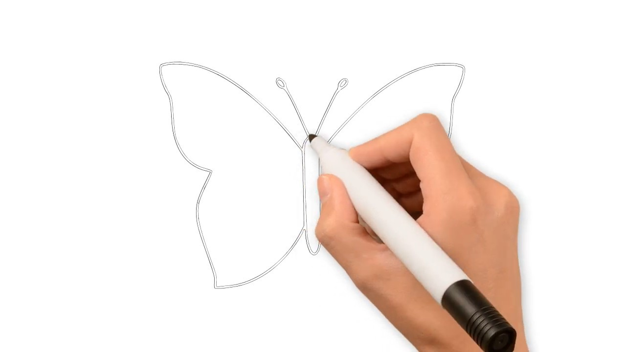 Рисуем легкую и красивую бабочку