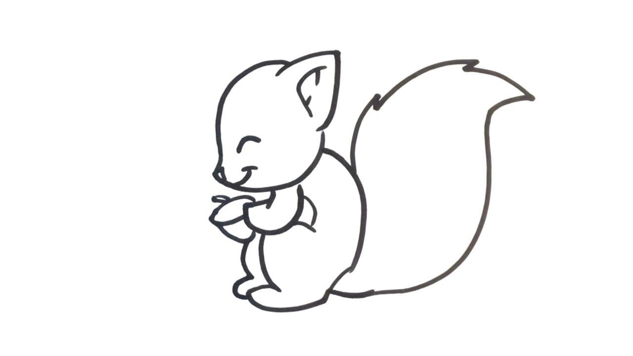 Рисуем белочку карандашом. Поэтапный урок для детей