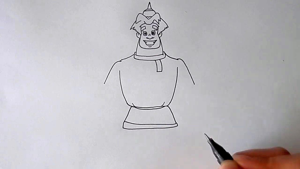 Как нарисовать богатыря Алешу Поповича