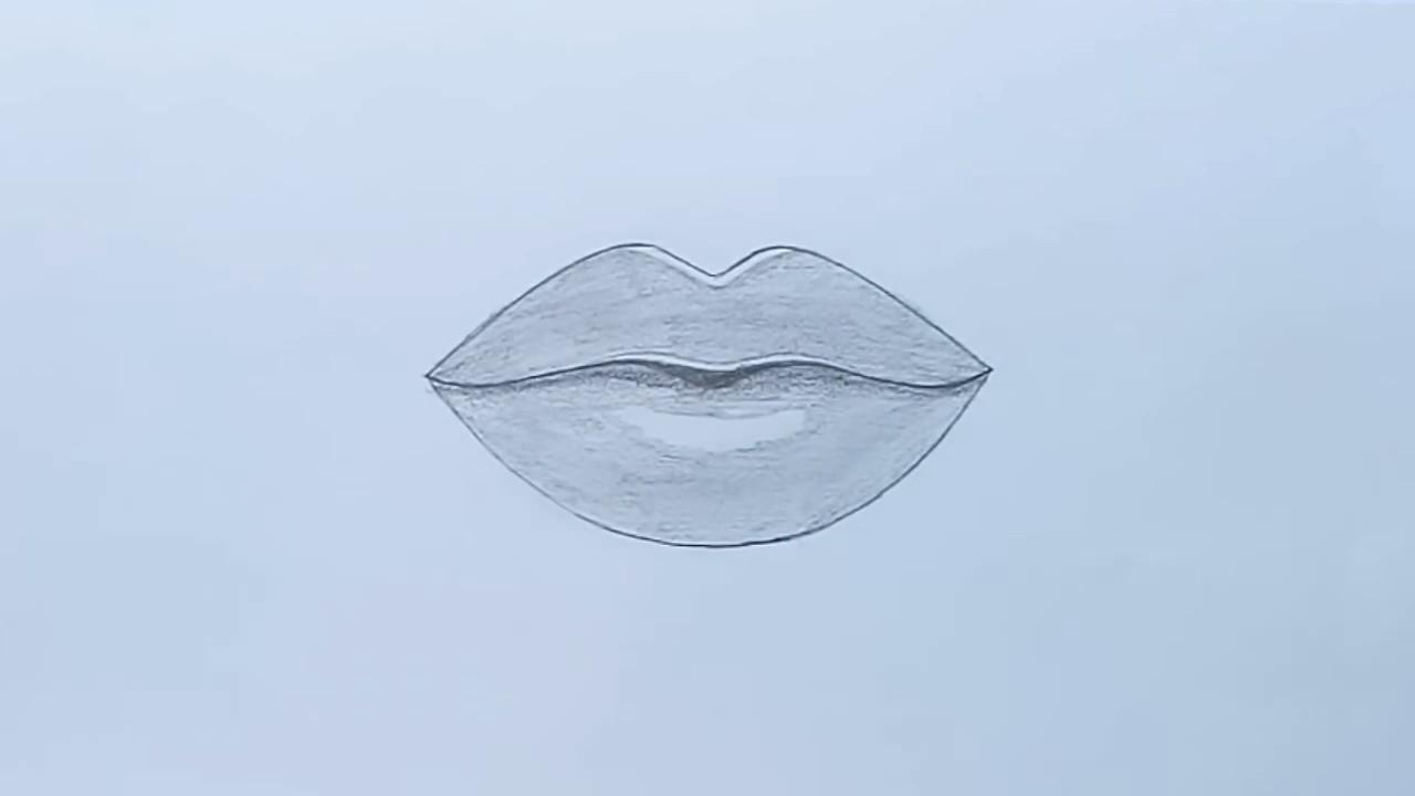 Как рисовать губы шаг за шагом