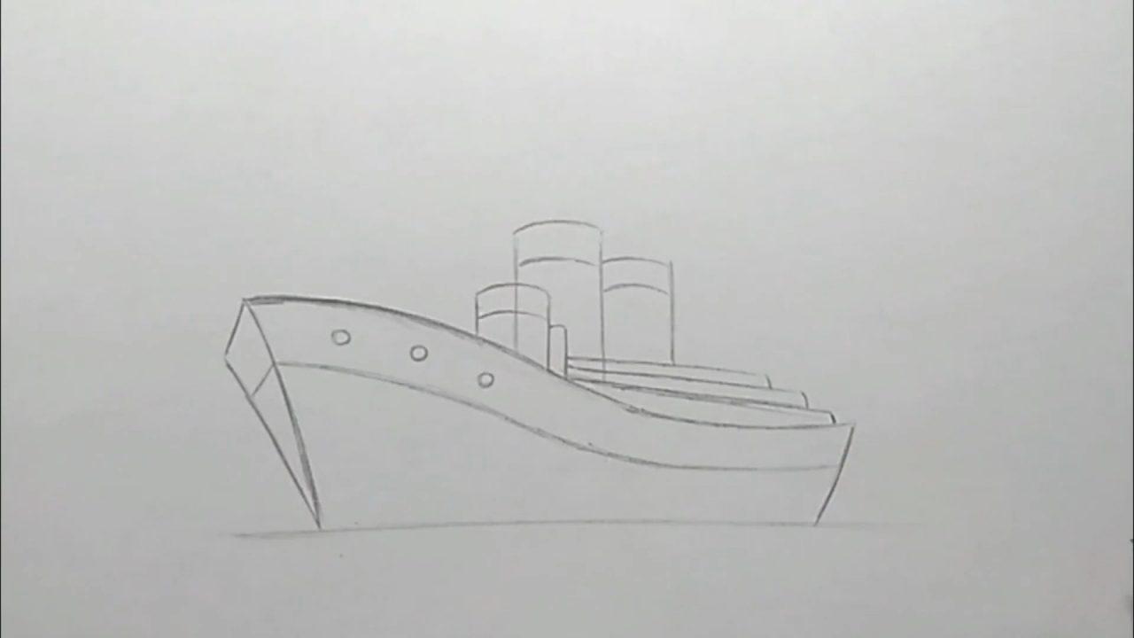 Как нарисовать большой корабль