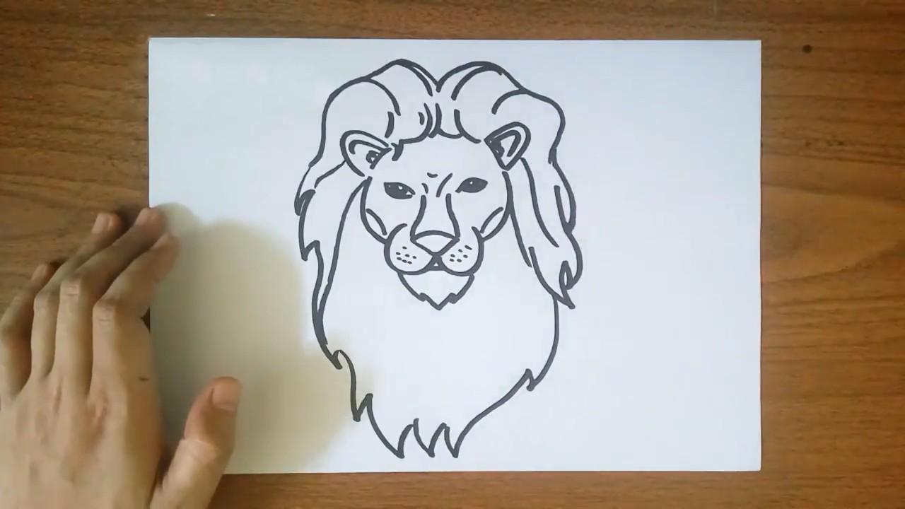 Рисуем льва — царя зверей с ребенком