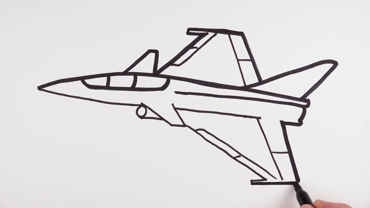 Как нарисовать военный самолет-истребитель