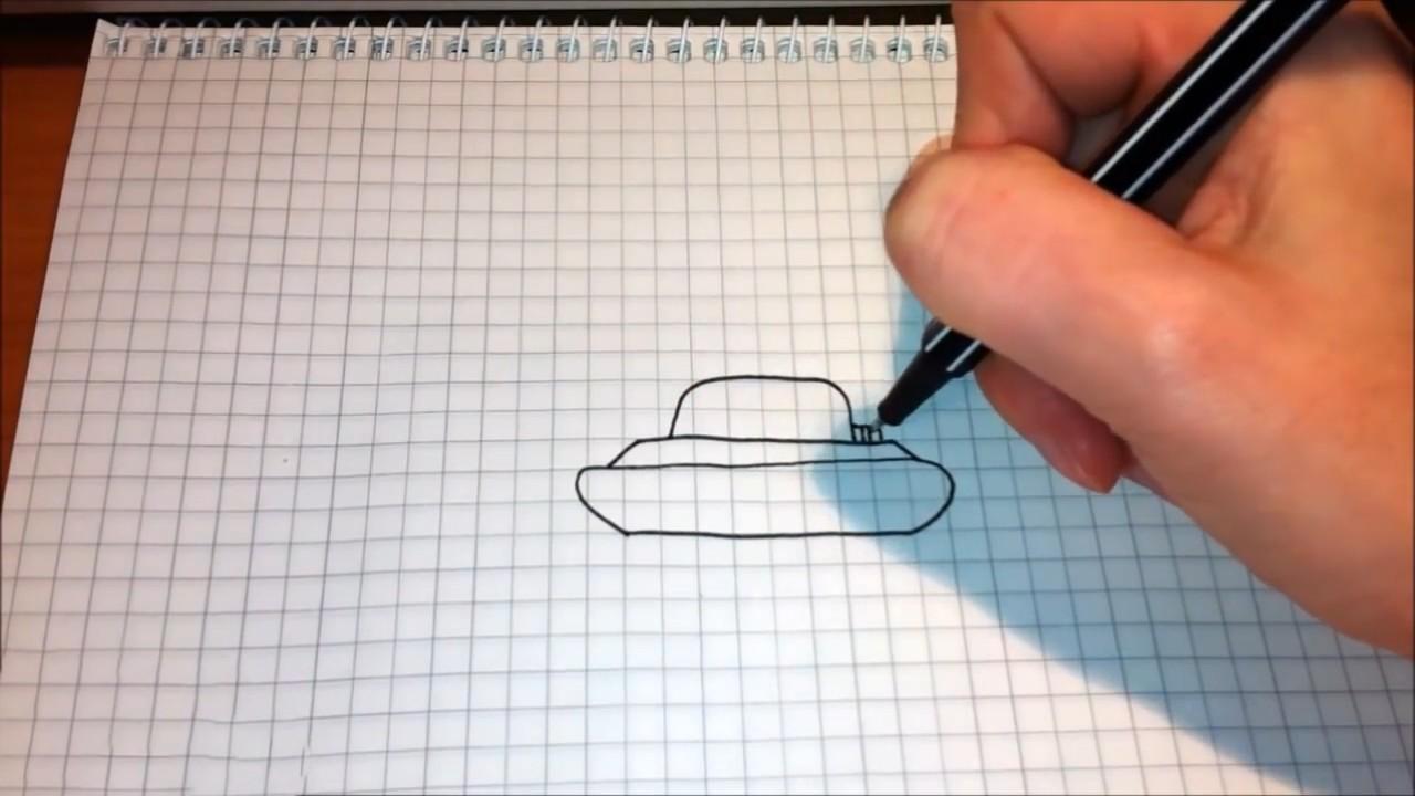 Как нарисовать танк по шагам