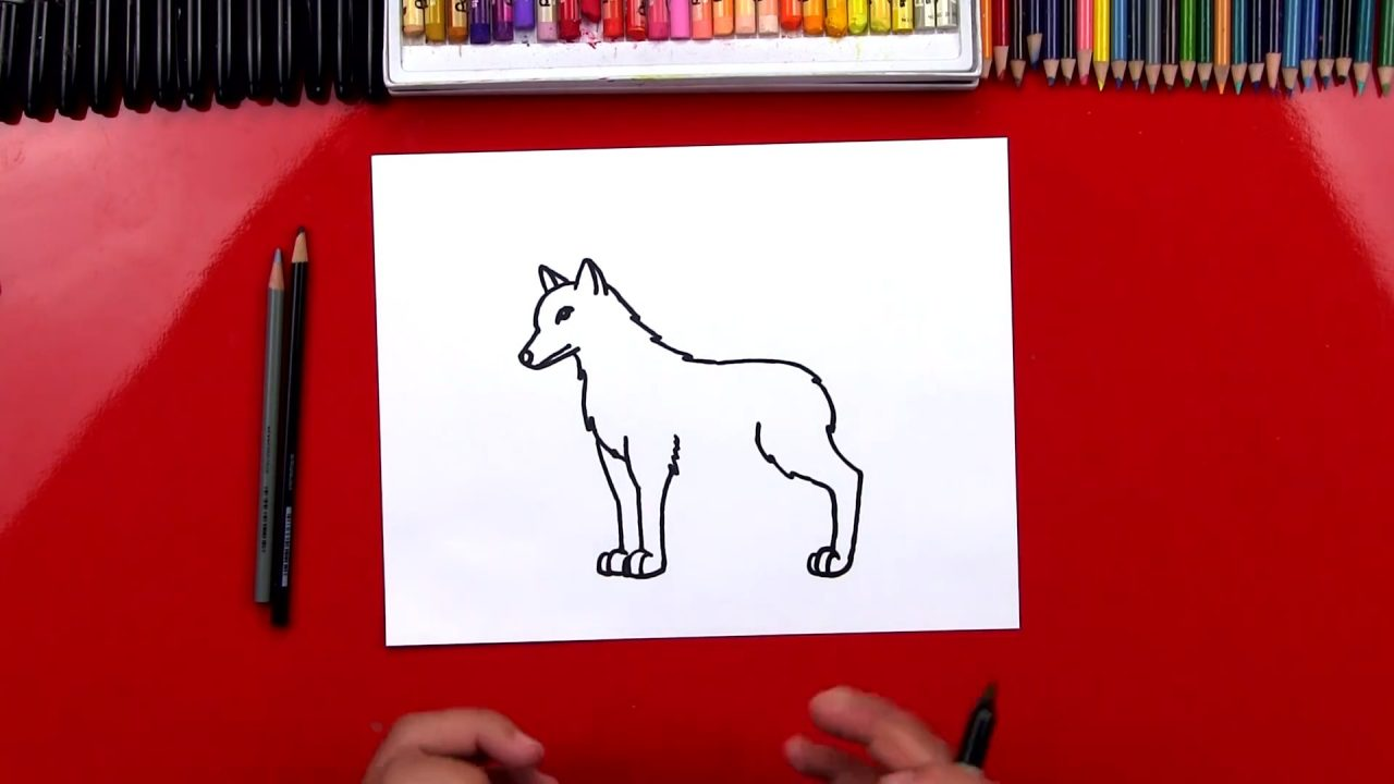 Как нарисовать серого волка по шагам