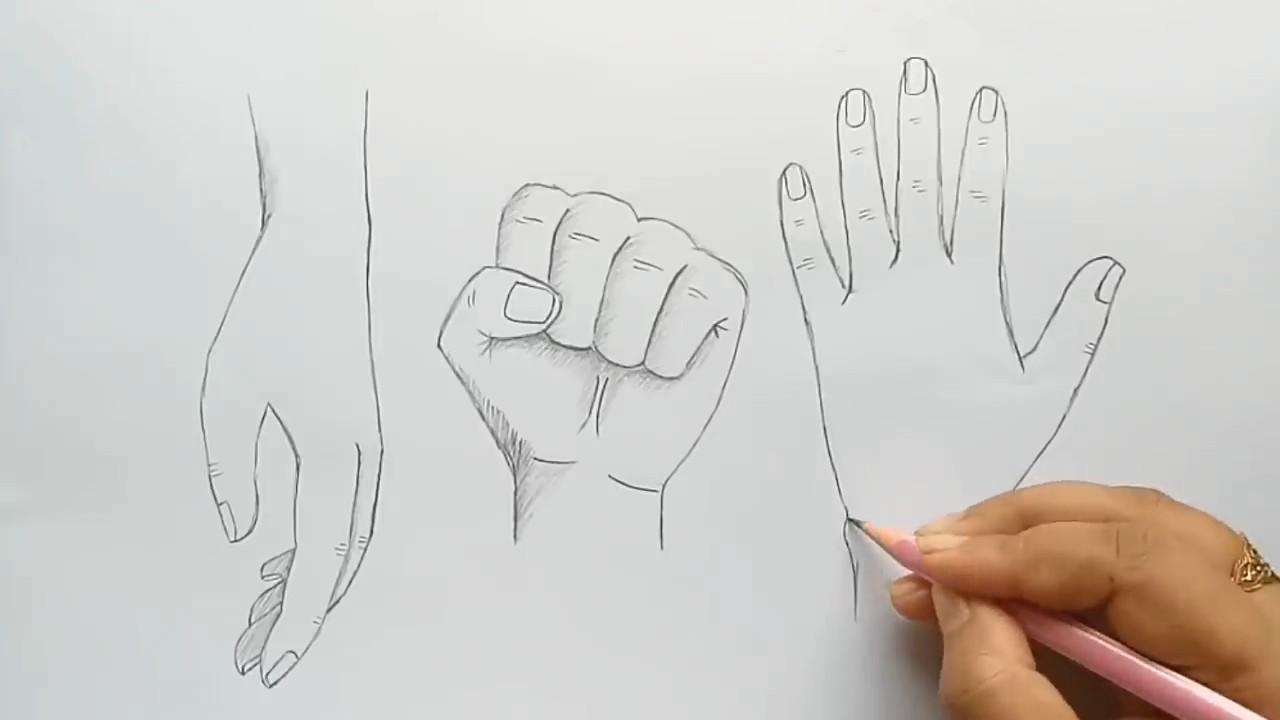 Учимся рисовать руки человека карандашом
