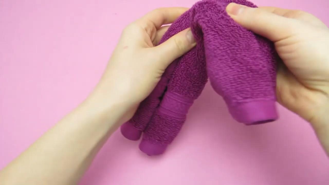 Делаем мишку из обычного полотенца